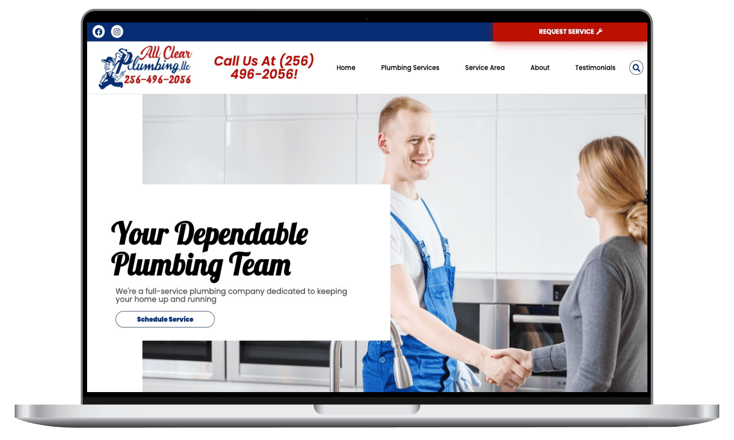 all clear plumbing website